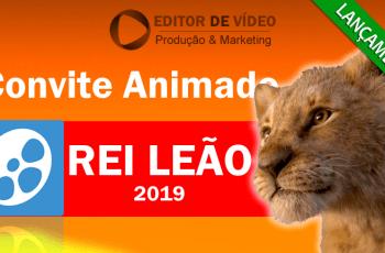 Convite Animado Rei Leão