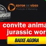 Convite animado Jurassic Park