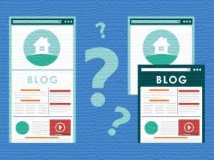 Corporate Blogs können in eine Website eingebunden sein (links) oder auf einer separaten Website erscheinen (rechts). Argumente gibt es für beide Seiten.