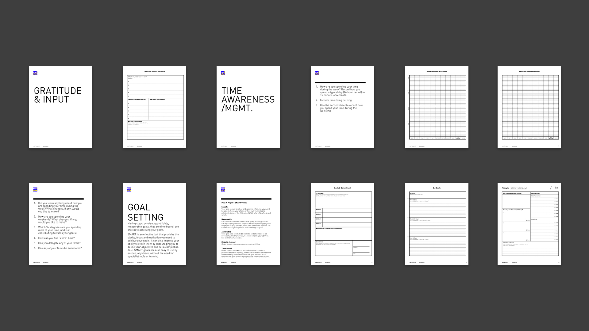 Free Productivity Worksheets For Creatives To Help You