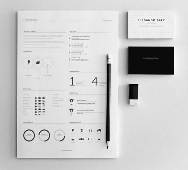 this designer s stylish résumé is now to