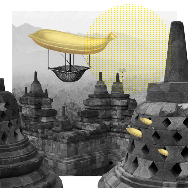 Banana Collages by Kayan Kwok