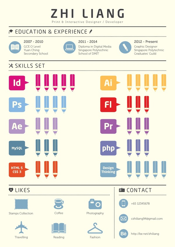 an awesome presented as a colorful minimalist infographic