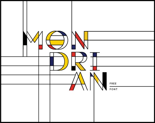 Get Creative With This Free Mondrian Inspired Font