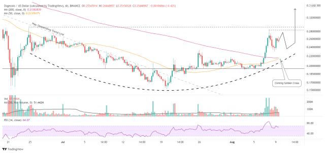 DOGE/USD 6-hour chart