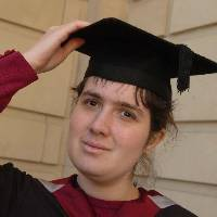 Number One: Keri Chambers who has received a first class maths degree from Sheffield Hallam University, despite having Wolfram syndrome.