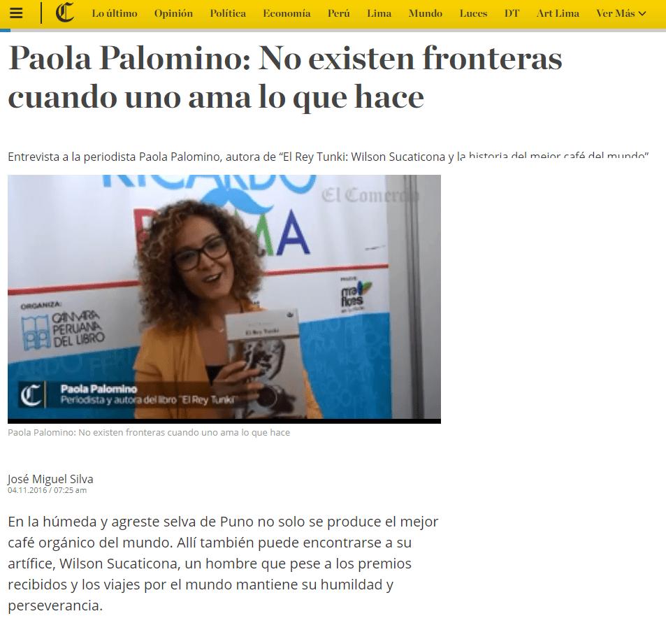 Paola Palomino: No existen fronteras cuando uno ama lo que hace