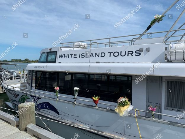 Typical signage on White Island Tours boats