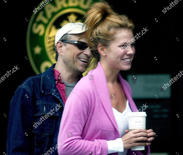 Bobcat Goldthwaite And Wife Nikki Cox In Beverly Hills California America Stock Image By Jim Knowles For Editorial Use Jun 29 2004