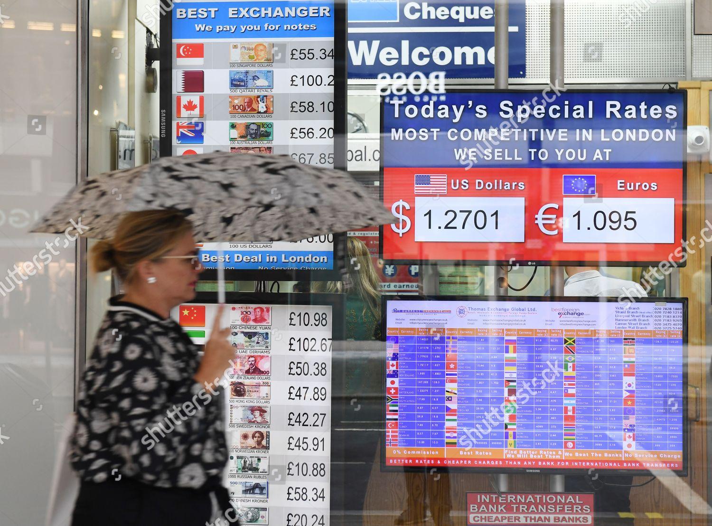 pound falls against the us dollar and euro london united kingdom 09 aug