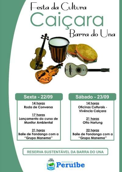 Grupo Manema e Otto Hartung se apresentam na Festa Caiçara da Barra do Una, dia 22 e 23