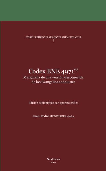 portada codex bne 4971mg - marginalia de una versión desconocida de los evangelios andalusies