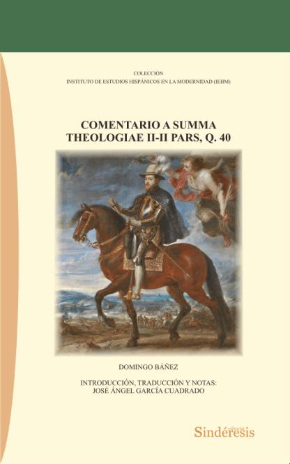 portada comentario a summa theologiae ii-ii pars q 40