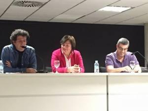 """Paco López Mengual, Carmen Martínez Maricó y Rubén Castillo Gallego en la presentación del libro """"Acompáñame"""""""