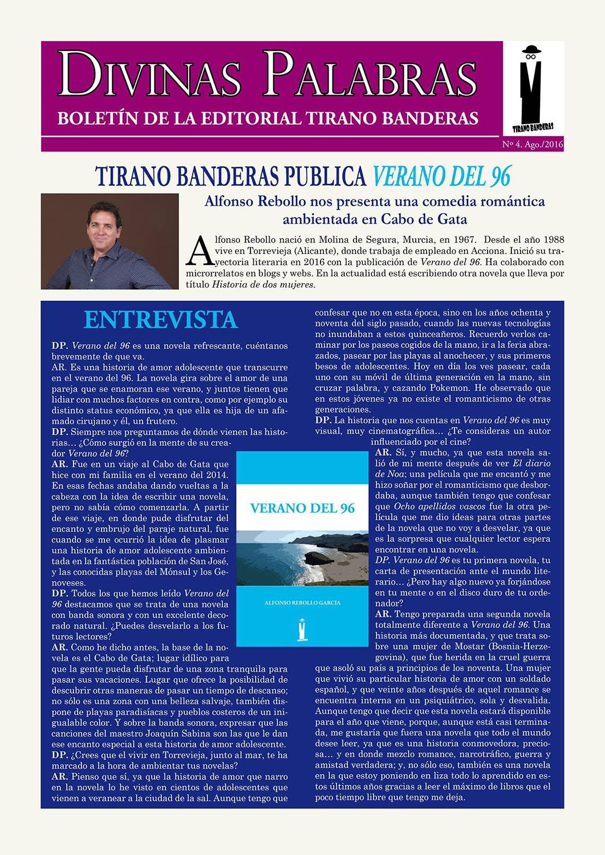 Entrevista a Alfonso Rebollo García en Divinas Palabras