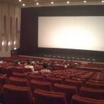 天井が高く、広々としています。2階席のないワンスロープ1044席。こんな映画館ももうほとんどないのでは。閉館は残念至極。