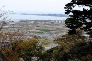 石巻、門脇町、南浜町を日和山公園から