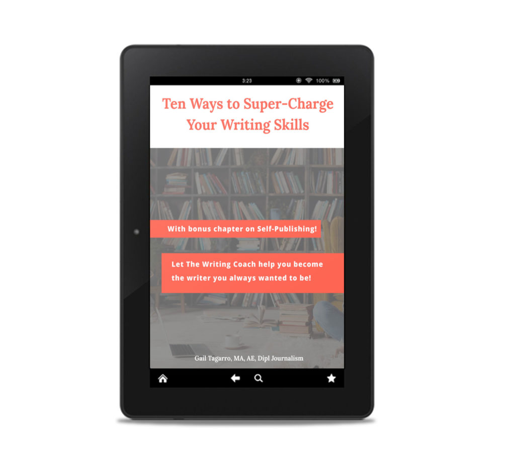 cover of ten ways to supercharge your writing skills by gail tagarro