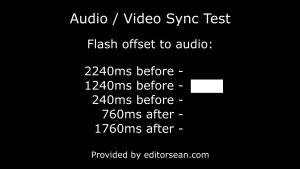 Extended AV sync test frame