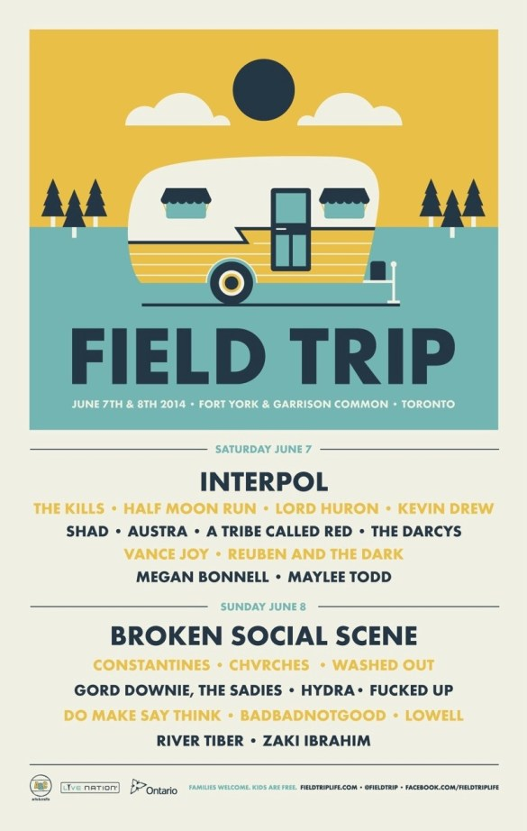 Field Trip Poster - new artists
