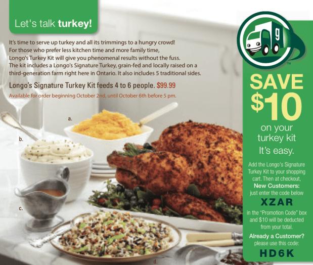 Grocery Gateway Turkey Kit
