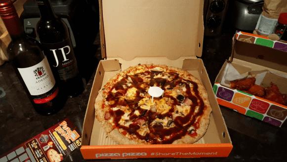 pizza pizza visa checkout