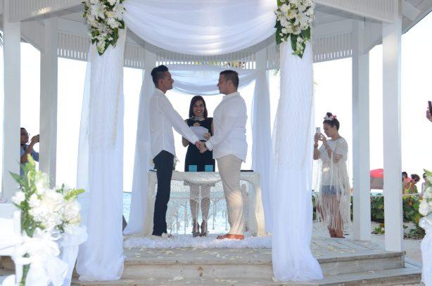 daniel and julio punta cana beach wedding