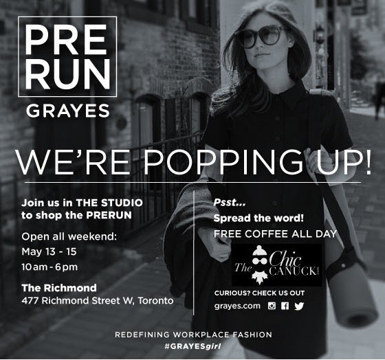 the chic canuck x grayes toronto pop up
