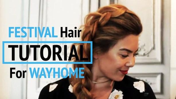 festival hairstyles tutorial video - gracie carroll