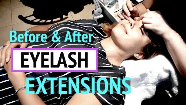 Gracie Carroll - eyelash extensions before and after - MV Beauty Lab