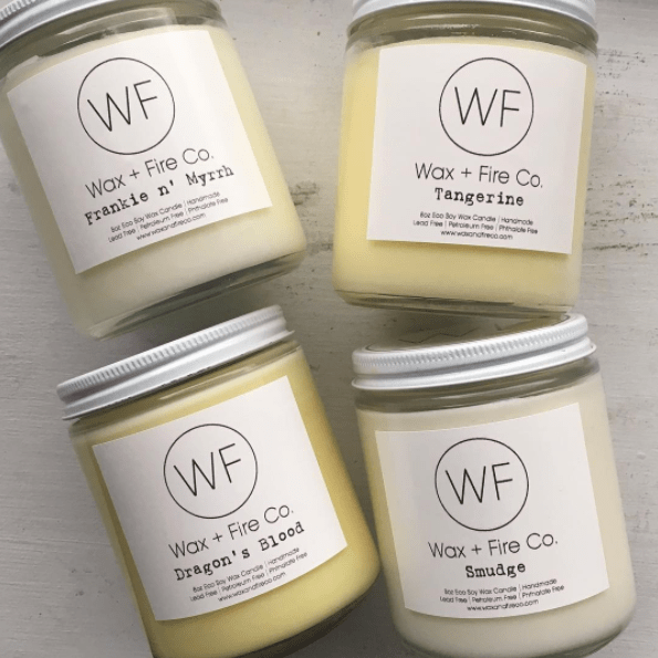 wax and fire co candles
