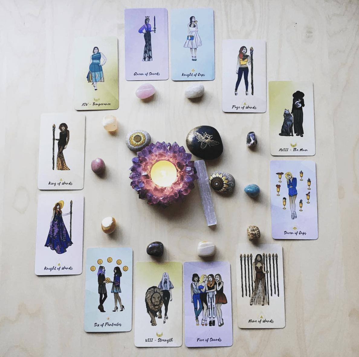 most beautiful tarot card decks - bad bitches tarot deck