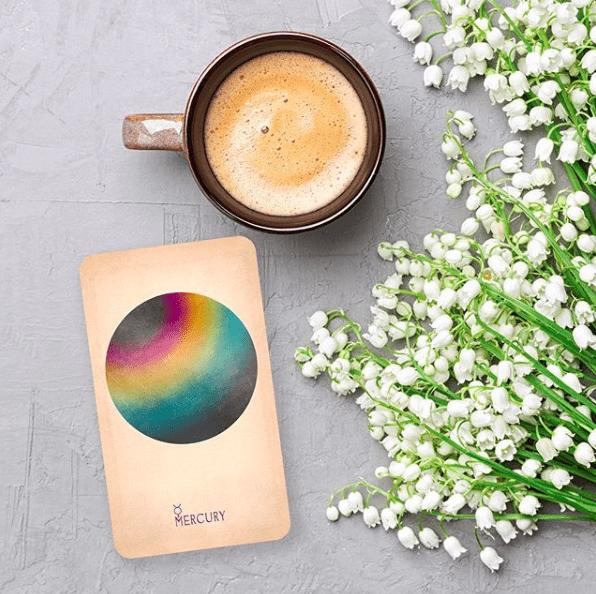most beautiful tarot card decks - black and the moon