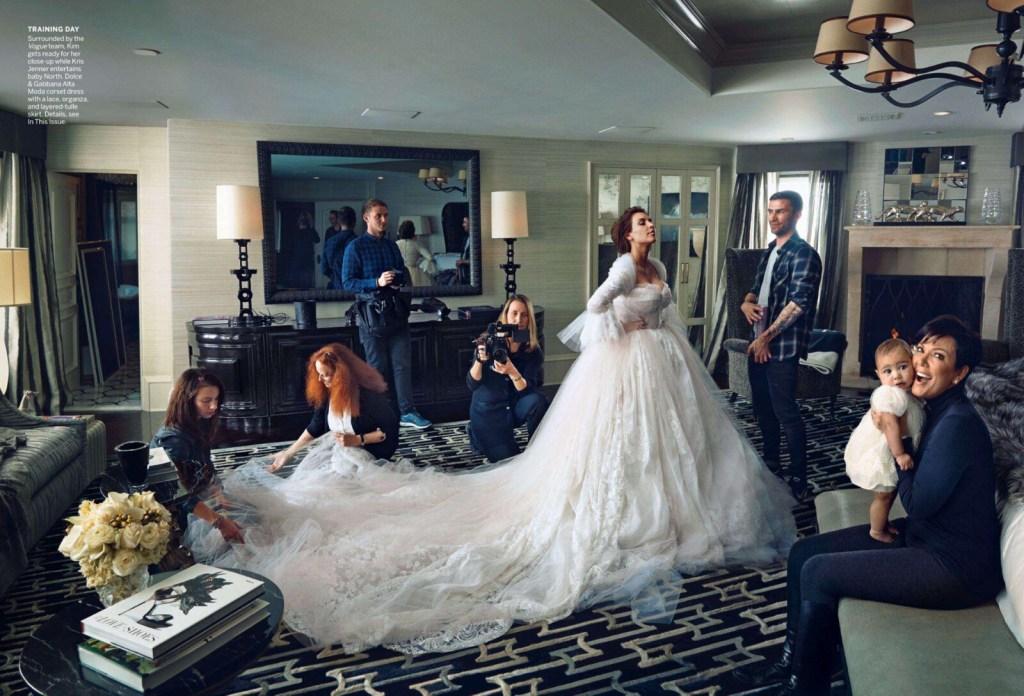 kim and kanye wedding vogue