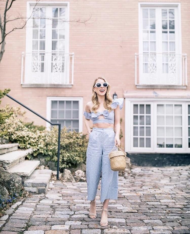 Kaylee Griffin straw bag edit seven 2018 stylebook