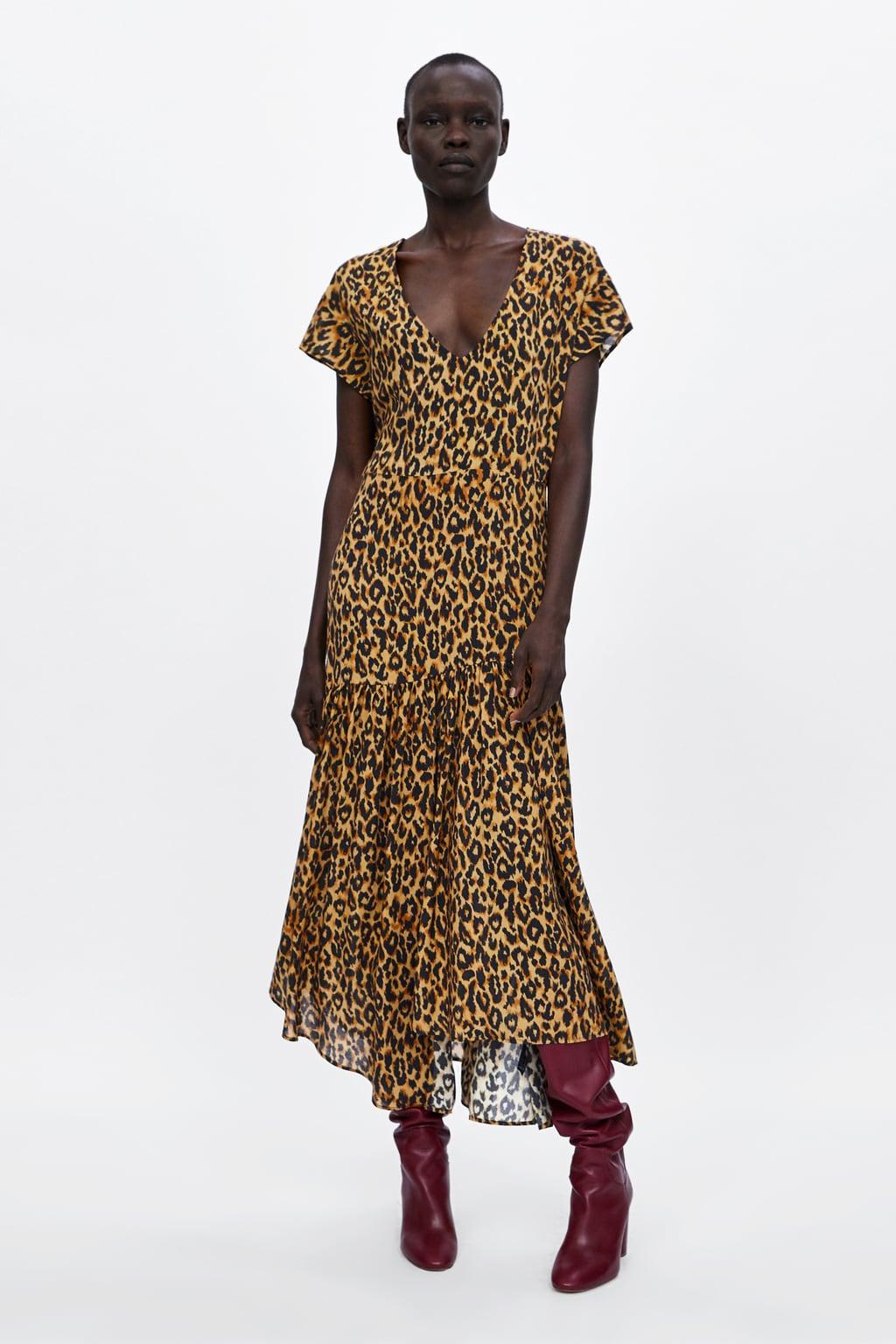 Zara Leopard Print Maxi Dress edit seven toronto 2018