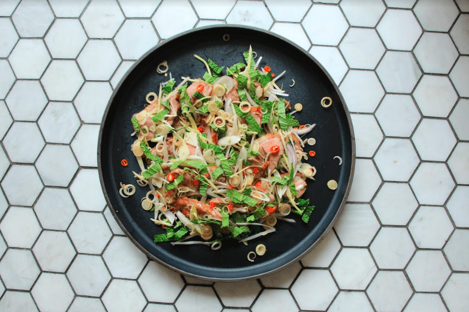 chef nuit regular - thai grilled duck salad recipe