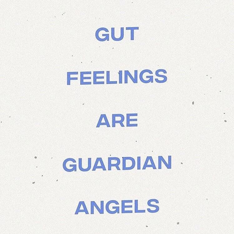 gut feelings are guardian angels