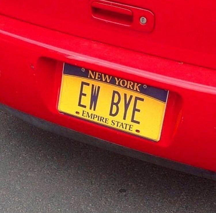 ew bye car license plate edit seven