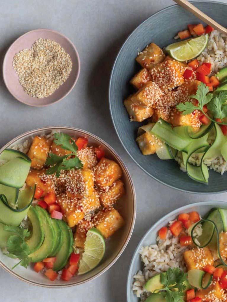 Liv B Cookbook Recipe - Sweet Chili Tofu