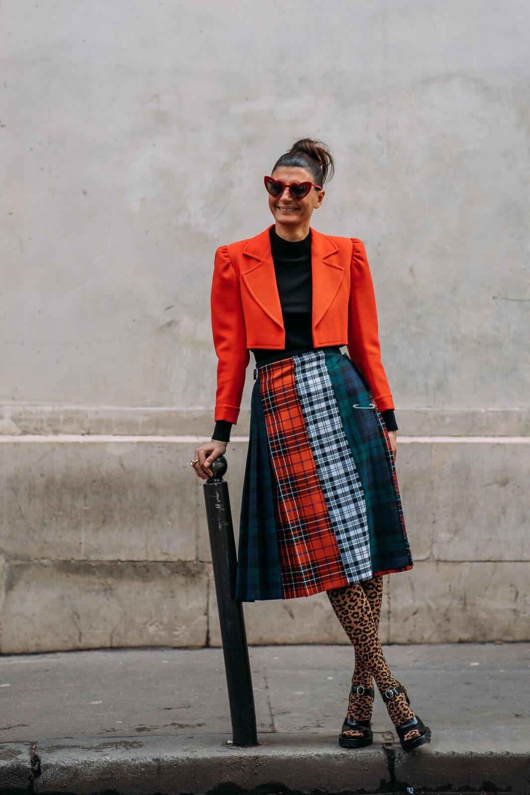 Giovanna Battaglia tartan stylebook editseven