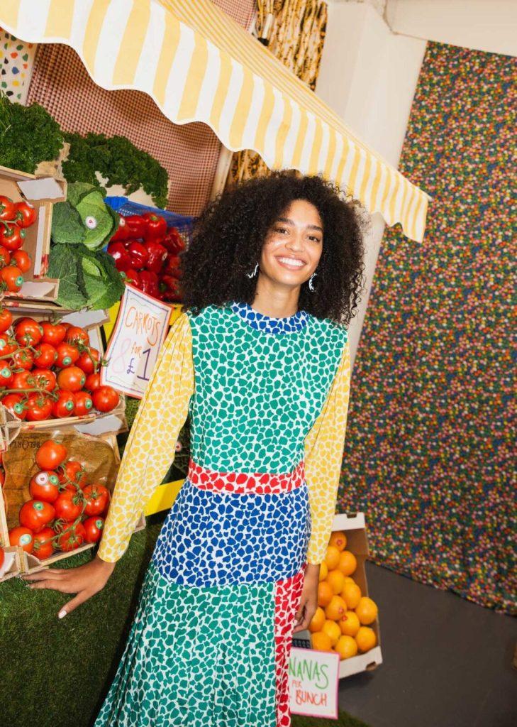 charlene psychedelic tulip dress