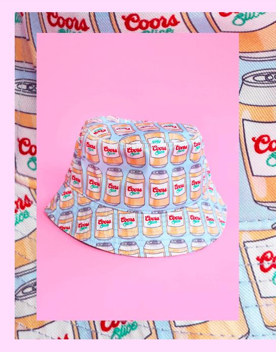 beer print bucket hat
