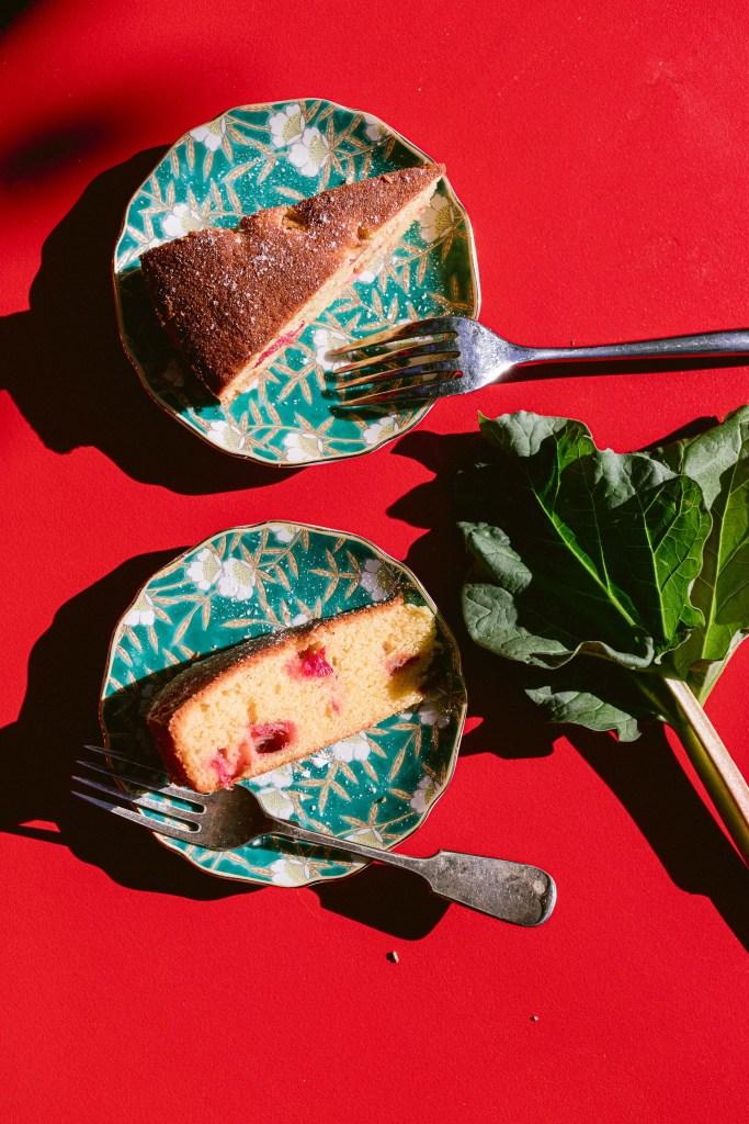Rhubarb Polenta Cake Recipe 1