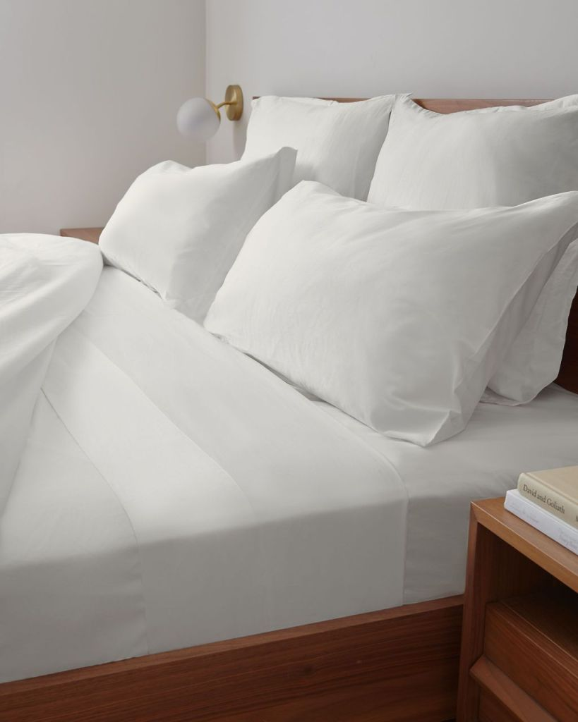 clean White Terry sheets for better sleep