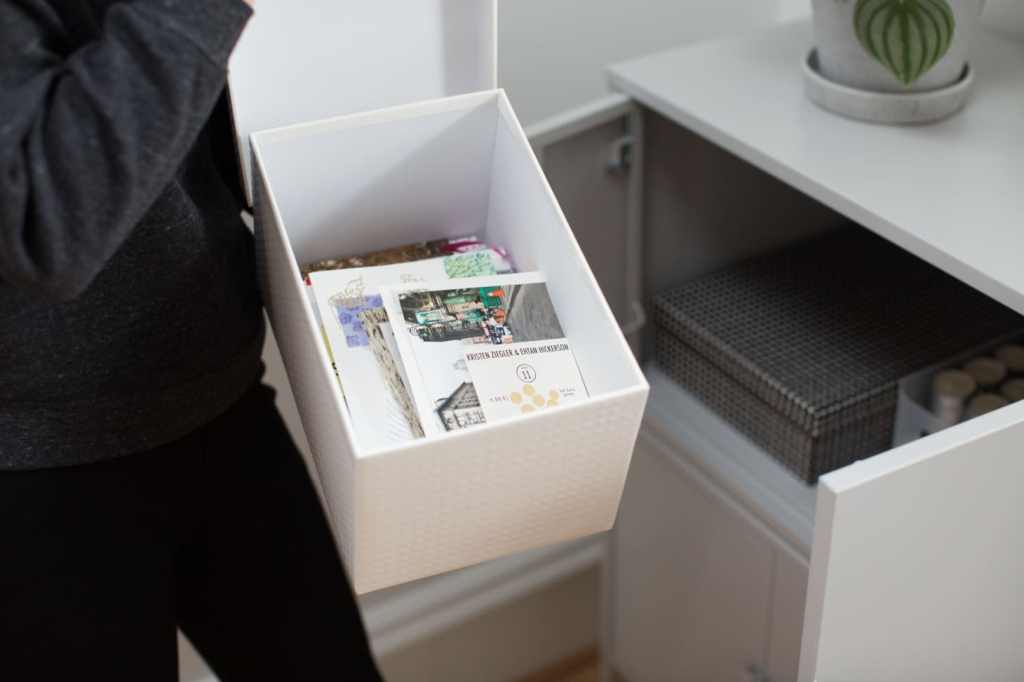 tips to organize - letting go of sentimental items