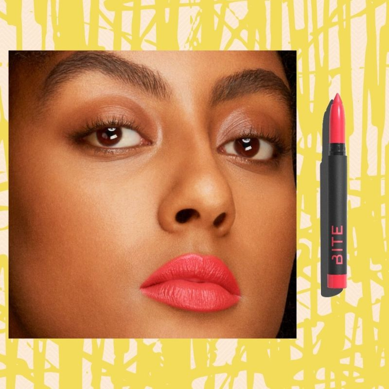 Bite Beauty coral lipstick for spring