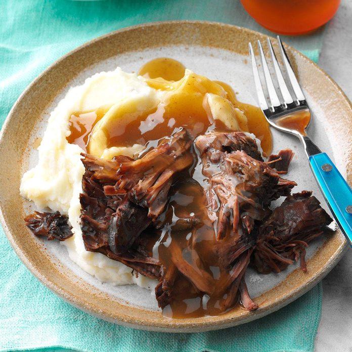coffee-braised roast beef dish