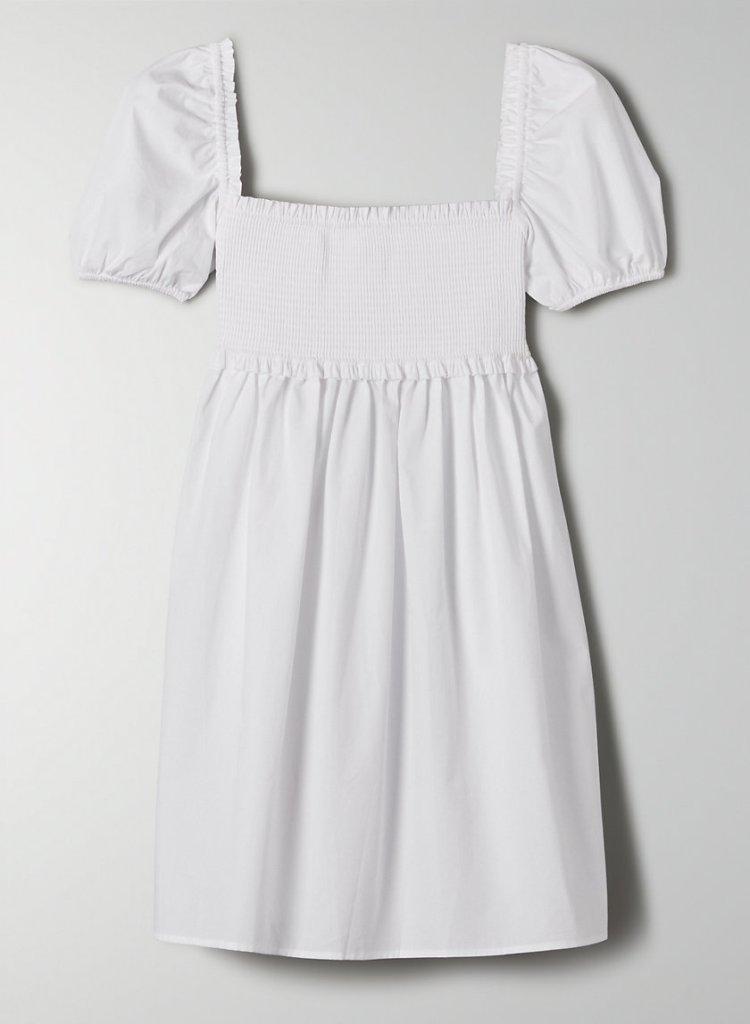 white empire waist dress from Aritzia