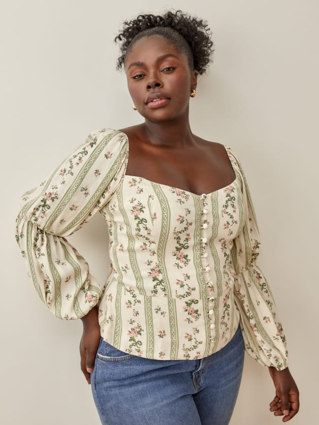floral top from Reformation